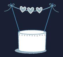 Blue wedding cake One Piece - Long Sleeve