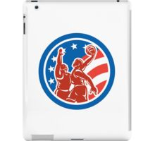 American Basketball Player Dunk Block Circle Retro iPad Case/Skin