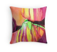 Purple figs fruit art Throw Pillow