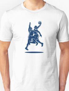Basketball Player Dunk Block Retro Unisex T-Shirt