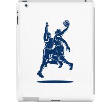 Basketball Player Dunk Block Retro iPad Case/Skin