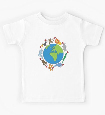 We Love Our Planet! Kids Tee