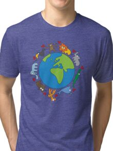We Love Our Planet! Tri-blend T-Shirt