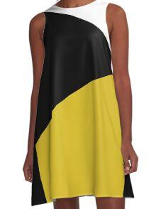 Blocks - Mustard & Black A-Line Dress