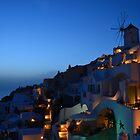 Santorini dusk by AHigginsPhoto