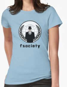 FSOCIETY MR. ROBOT Womens Fitted T-Shirt