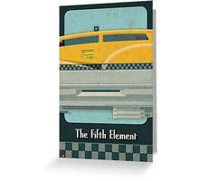 Korben Dallas' Flying Taxi, The Fifth Element 2 of 3 Greeting Card