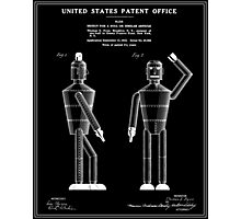 Robot Patent - Black Photographic Print