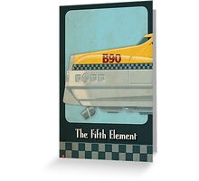 Korben Dallas' Flying Taxi, The Fifth Element 1 of 3 Greeting Card