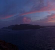 Santorini Sunset panoramic by AHigginsPhoto