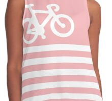 Baby Pink Bike with Stripes Contrast Tank