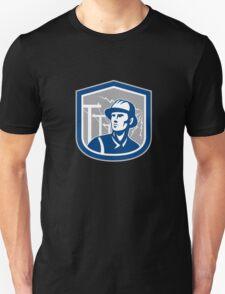 Power Lineman Repairman Shield Retro Unisex T-Shirt