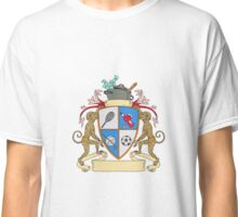 Monkey Money Cook Pot Sports Wine Coat of Arms Drawing Classic T-Shirt