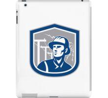 Power Lineman Repairman Shield Retro iPad Case/Skin