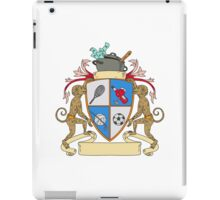 Monkey Money Cook Pot Sports Wine Coat of Arms Drawing iPad Case/Skin