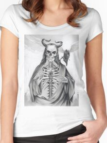 Jesus and the Angel of Death Women's Fitted Scoop T-Shirt