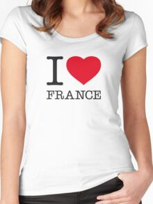 I ♥ FRANCE Women's Fitted Scoop T-Shirt