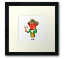 Strawberry Tricorn Hat Ice Cream Victorian Gentleman Watercolor Framed Print