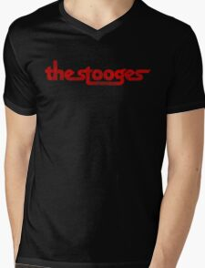 The Stooges (red - distressed) Mens V-Neck T-Shirt