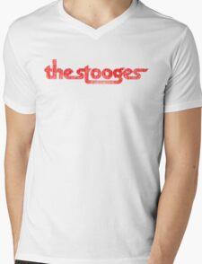 The Stooges (red - distressed) Mens V-Neck T-Shirt