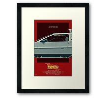 DeLorean Time Machine, Back to the Future Version 3 II/III Framed Print