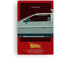 DeLorean Time Machine, Back to the Future Version 3 II/III Canvas Print