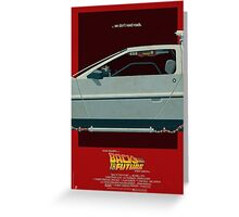 DeLorean Time Machine, Back to the Future Version 3 II/III Greeting Card
