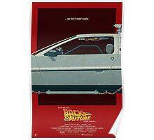 DeLorean Time Machine, Back to the Future Version 3 II/III Poster