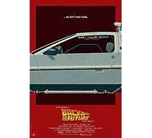 DeLorean Time Machine, Back to the Future Version 3 II/III Photographic Print