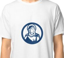 Blessed Virgin Mary Circle Retro Classic T-Shirt