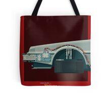 DeLorean Time Machine, Back to the Future Version 3 I/III Tote Bag