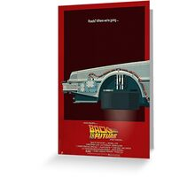 DeLorean Time Machine, Back to the Future Version 3 I/III Greeting Card