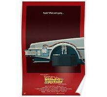 DeLorean Time Machine, Back to the Future Version 3 I/III Poster