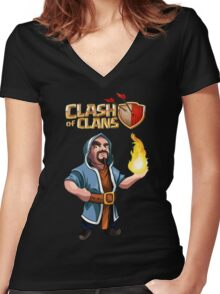 Wizard Women's Fitted V-Neck T-Shirt
