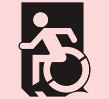 Emergency Exit Sign, with the Accessible Means of Egress Icon, part of the Accessible Exit Sign Project Kids Tee