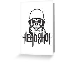head shot Greeting Card