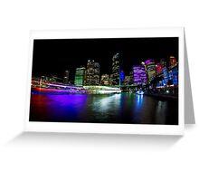 Circular Quay - Vivid Sydney Greeting Card