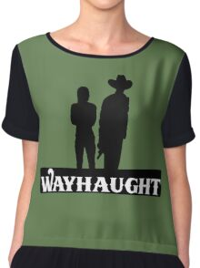 Wayhaught-Silhouette Chiffon Top