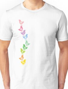 Balancing Retro Rainbow Chicks Unisex T-Shirt