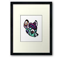 Sugar Skull Bambi Framed Print