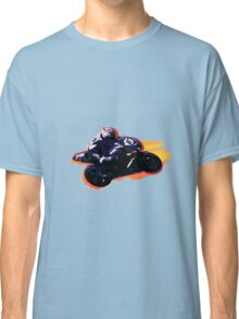Motorcycle racer on the move Classic T-Shirt