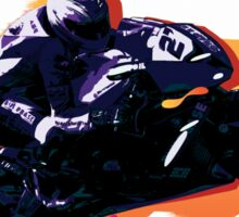 Motorcycle racer on the move Sticker