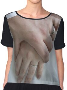 Wedding couple holding hands Chiffon Top