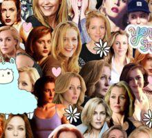 Gillian Anderson collage Sticker