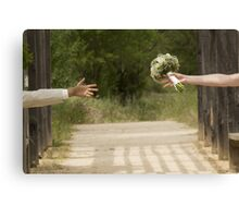 Hands married Canvas Print