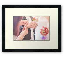 engagement ceremony Framed Print