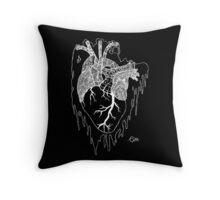 Psycho Heart (White) Throw Pillow