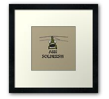 Ahh Soldiers!!! Framed Print