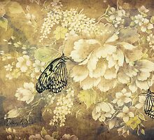 Peonies and Butterflies by © Kira Bodensted