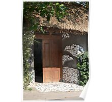 brown wooden gate Poster